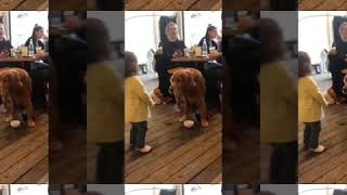 Elizya and the doggy- funny baby girl