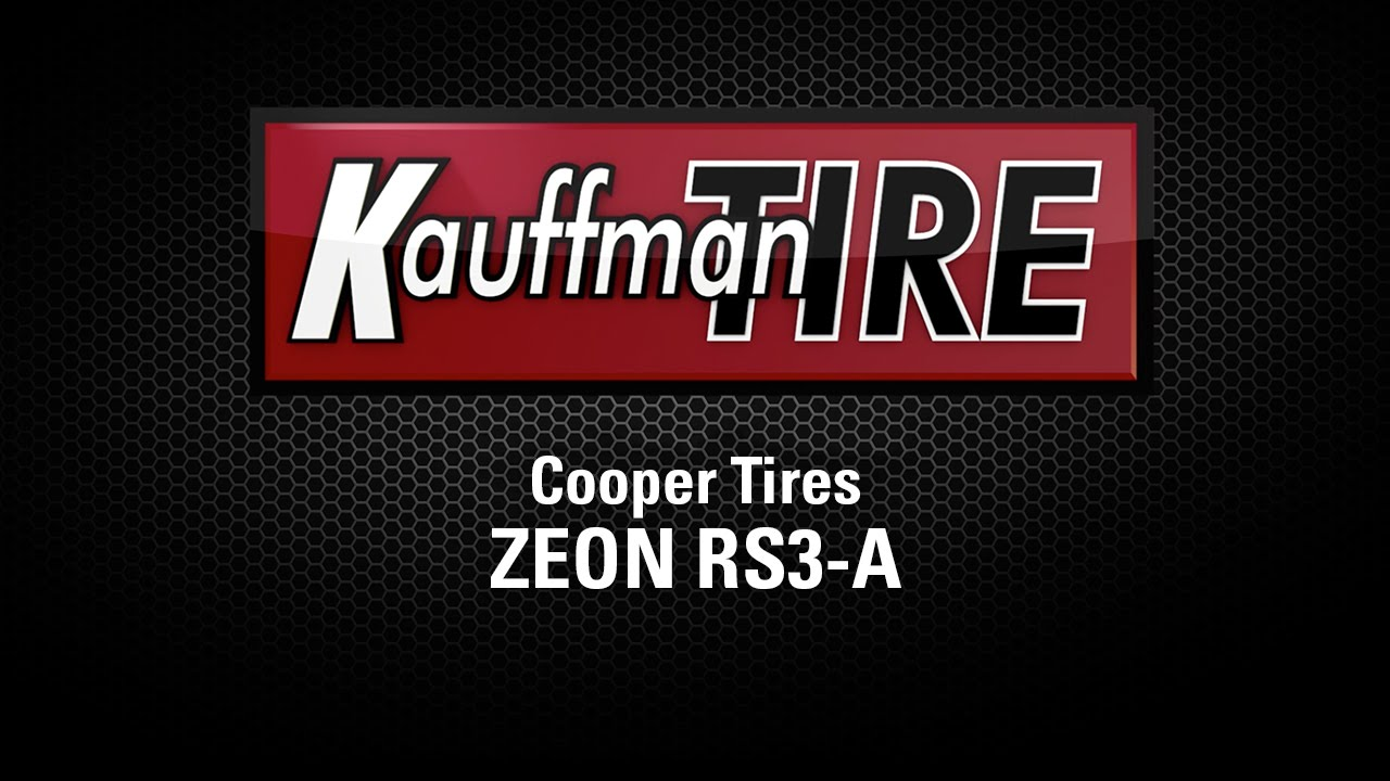 Cooper Rs3 A >> Cooper Zeon RS3-A Product Video - YouTube