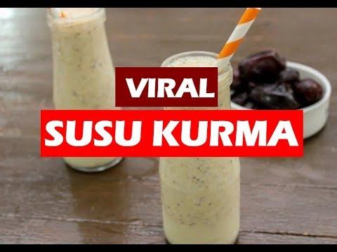 Resepi Susu Kurma Viral Untuk tingkatkan tenaga dan menambahkan susu Ibu