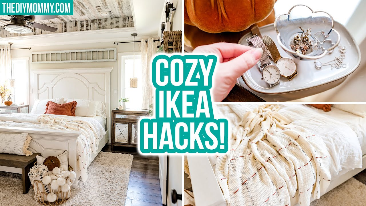DIY IKEA HACKS for a cozy Fall bedroom