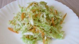 Минутный салат из свежей  капусты как в столовой