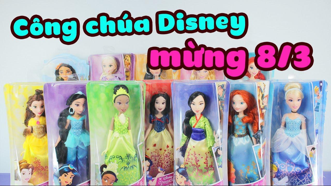 Mở đồ chơi Công Chúa Disney, mừng ngày 8-3 !!! – ToyStation 32