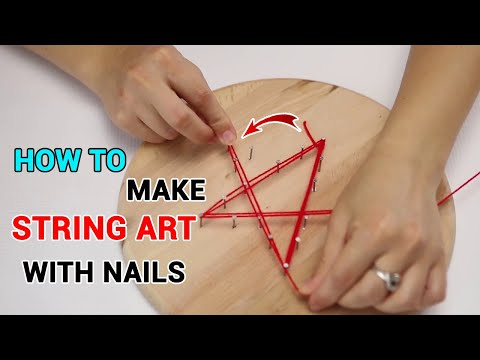 DIY Craft: How to Make String Art With Nails