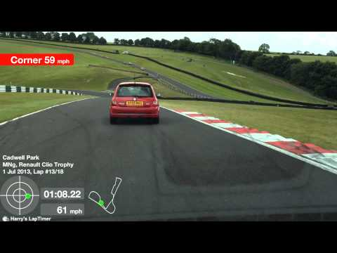 RenaultSport Clio 182 Trophy, Cadwell Park Trackday, June 2013