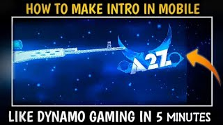 How to make gaming intro like dynamo gaming || dynamo gaming intro making