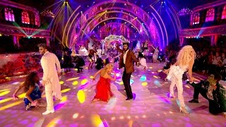 Strictly Pros & Celebrities dance to