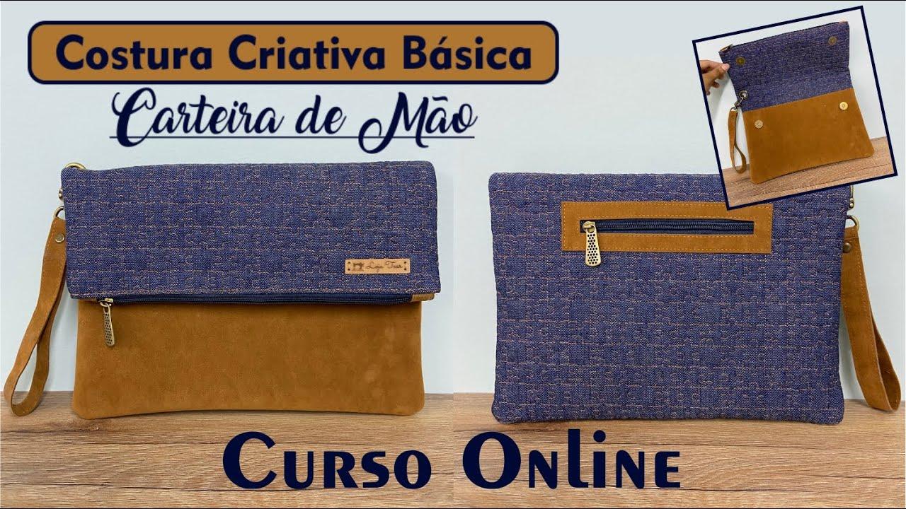 CURSO ONLINE - Costura Criativa Carteira de Mão por Carol Buselli - Loja Tear