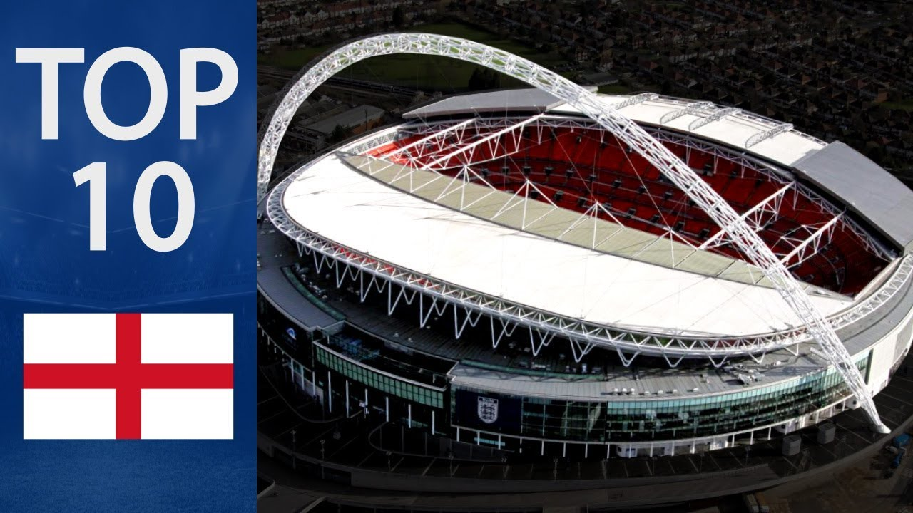 Top 10 Biggest Football Stadiums in England - YouTube