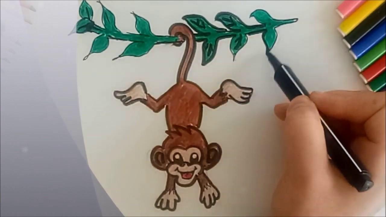 Kolay Maymun Cizimi Resim Cizim Boyama Harika Kalemler