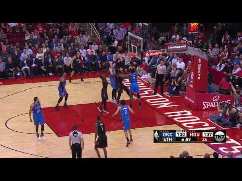 Houston Rockets Double Stagger vs OKC | January 5, 2017 | 2016-17 NBA Season