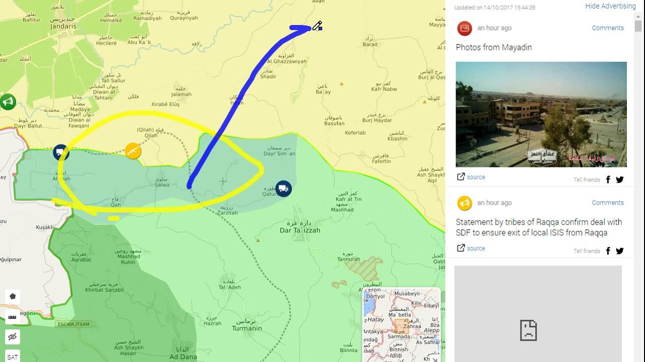 Syria Live map Raqqa Captured 101417 YouTube