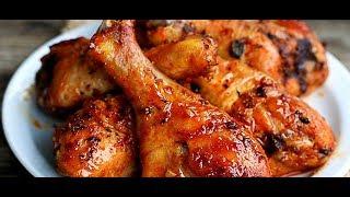 Куриные голени в медово-соевом соусе с апельсинами. Быстрый рецепт