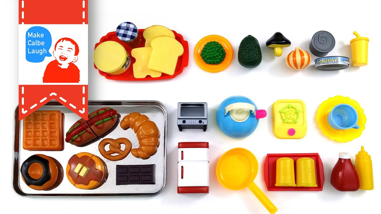 Velcro Food Toy Cutting Pancake Croissant Plastic Cooking