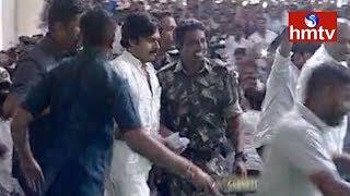 Jana Sena Chief Pawan Kalyan Come To Meeting | Karimnagar |  Telugu News | hmtv