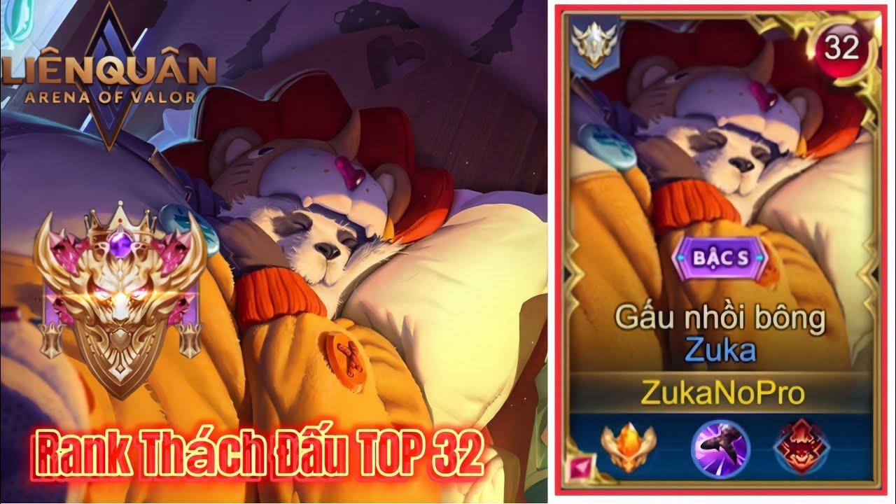 TOP.1 ZUKA  - ZukaNoPro Huỷ Diệt Rank Thách Đấu TOP 32 Với Lối Đánh Nhanh Mạnh 8 Phút ENDGAME !