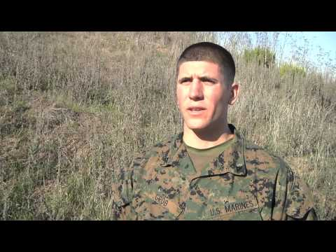 Marines Take First Step to  Become Scout Snipers (Grob - Interview)