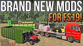 NEW MAN FLATBED, IT RUNNER CONTAINER, & MORE! | FS19 Mods