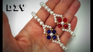 DIY beaded bracelets-simple and elegant . How to make jewelry. easy beading for beginners