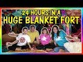 24 HOURS IN A HUGE BLANKET FORT! | We Are The Davises