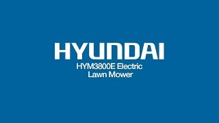 Hyundai HYM3800E Corded Electric Lawnmower Unboxing & Assembly