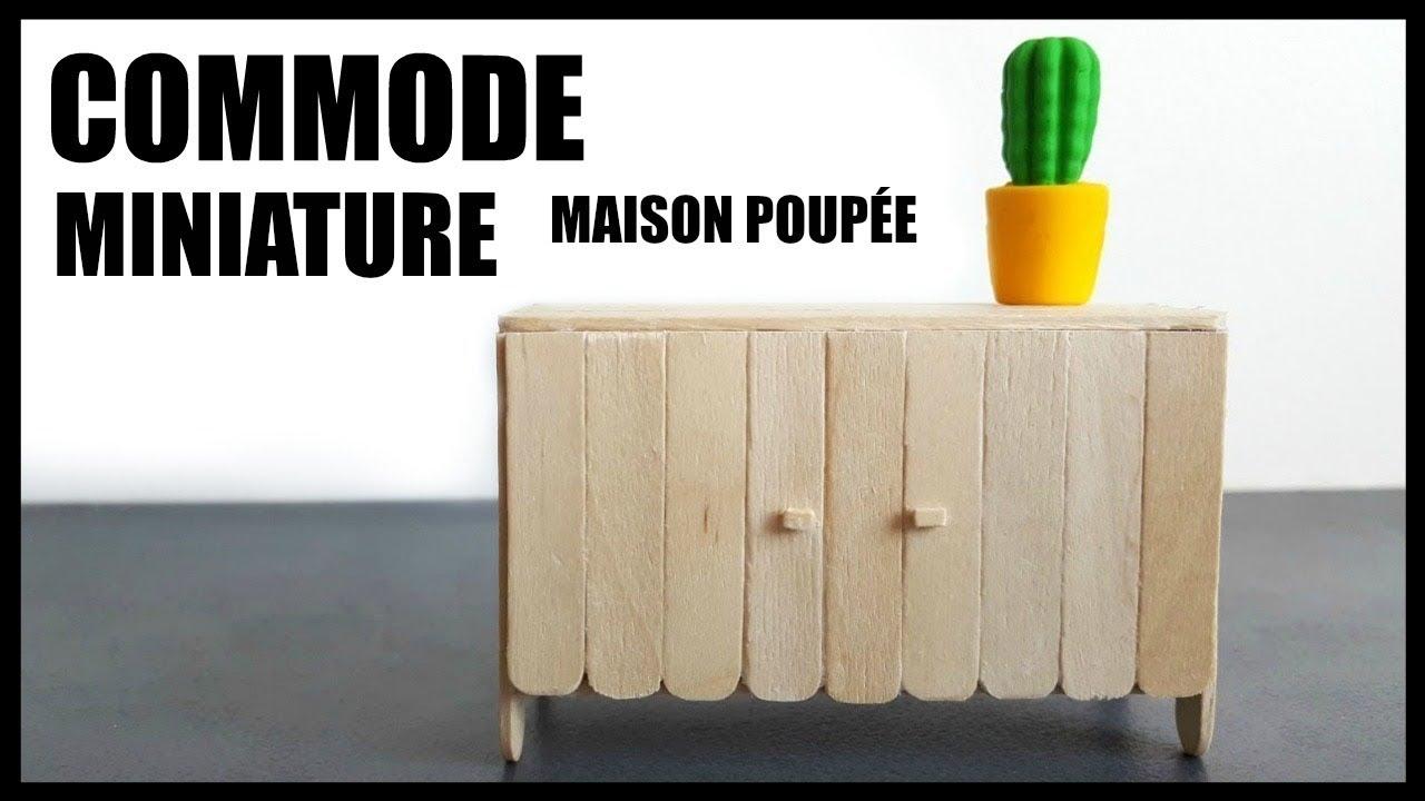 Diy Maison De Poupee Commode En Bois Miniature Tuto En Francais
