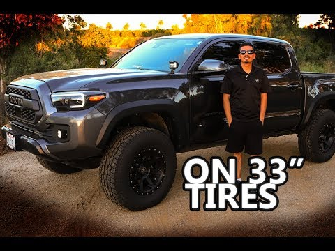 Toyota Tacoma Lifted >> 2018 TOYOTA TACOMA TRD OFF ROAD ON 33S   REVEAL VIDEO ...