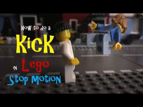 How to do a kick in Lego stop motion - YouTube
