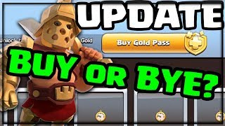 Clash of Clans UPDATE - Gold Passes Worth It? GIVING Away FREE Gold Passes!