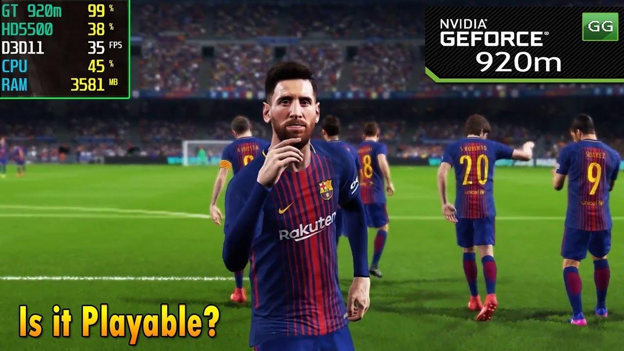 Pro Evolution Soccer 2019 on Nvidia 920m | 920mx - Core i5 | 2018 Benchmark  Test