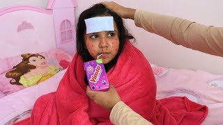 شفا مرضت و ماما عالجتها !!