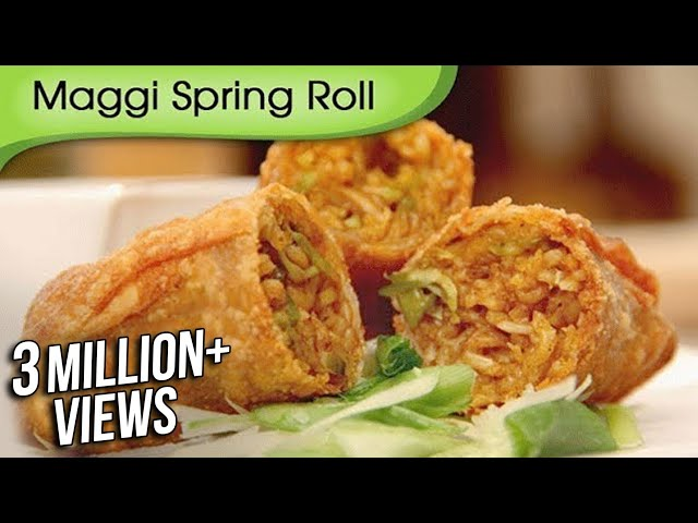 Maggi Noodles Spring Roll | Quick Easy To Make Appetizer | Fast Food Recipe By Ruchi Bharani