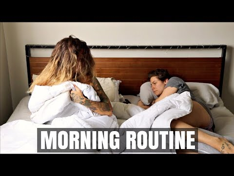 A REALISTIC MORNING ROUTINE!! | LESBIAN COUPLE | | Sam&Alyssa from YouTube · Duration:  4 minutes 43 seconds