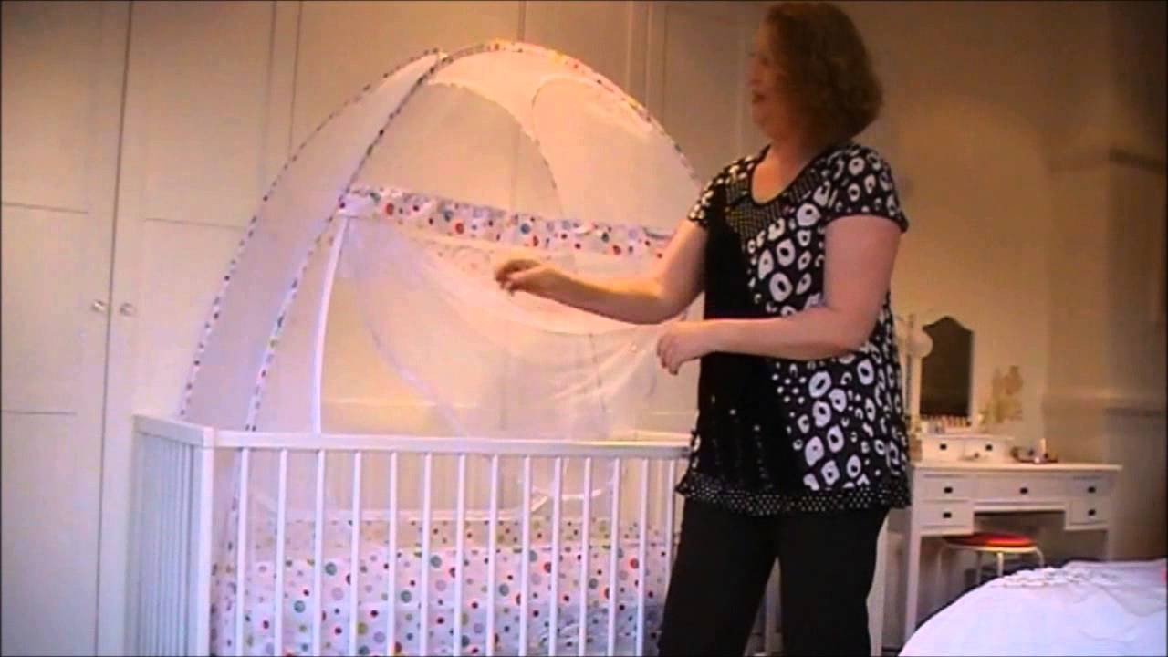 Baby Crib Safety Net Assembly Demo Setting Up
