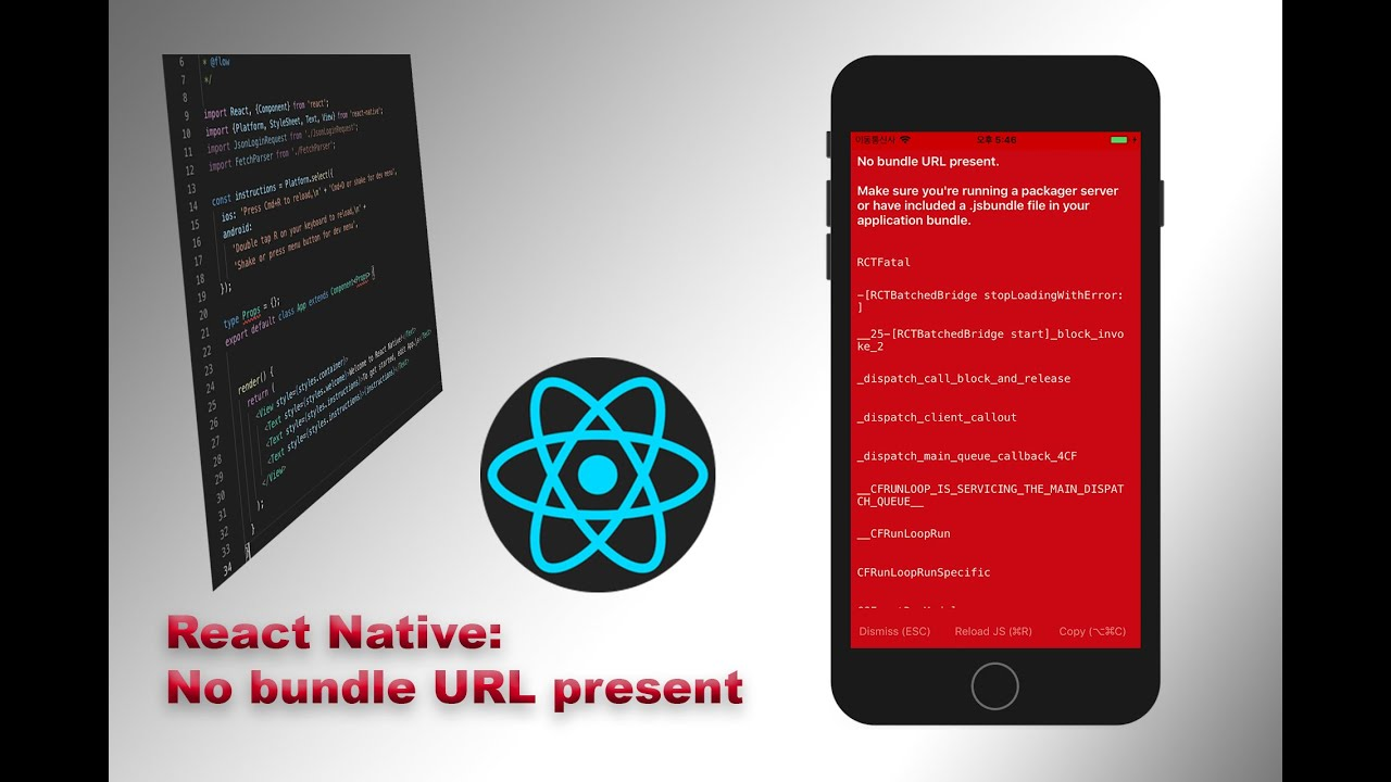 React Native: How to fixed No bundle URL present