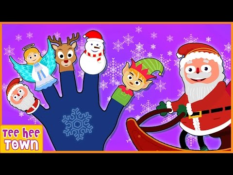 Christmas Finger Family Song | Jingle Bells Song | Plus More Kids Songs by Teehee Town