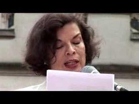 Bianca Jagger Ceasefire Now demo