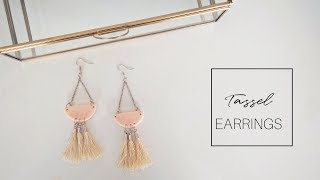 DIY TASSEL EARRINGS | Anthropology Inspired