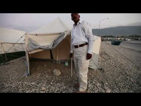 Haitian government sets up tents in Port-au-Prince