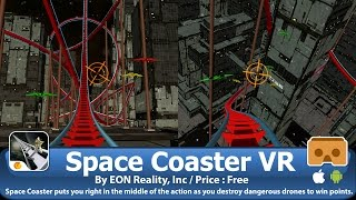 Space Coaster VR - Roller Coaster + Alien Shooting VR 3D for Google Cardboard (Android & iOS)