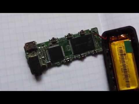 MP3 плеер TRANSCEND T.Sonic 350 8Gb Blue разбор