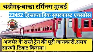 Chandigarh Bandra Terminus Superfast Express Resource | Learn About