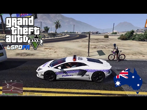 GTA 5 - LSPDFR Australia: Lamborghini Highway Patrol! (GTA 5 play as a cop mod for PC)