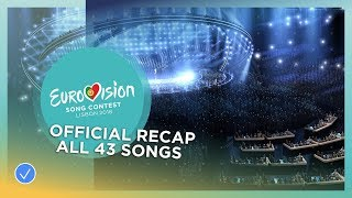 official recap all the 43 songs of the 2018 eurovision song contest