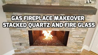 Quick video on a Fireplace Makeover! How to upgrade and remodel your fireplace. This will give your fireplace a great modern look!