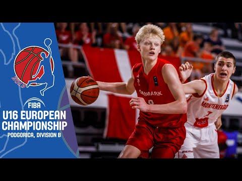 LIVE - Montenegro V Denmark - FIBA U16 European Championship Division B 2019