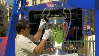 Champions League trophy displayed in Madrid as 80,000 fans hea…