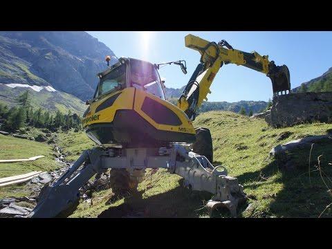 Шагающие Spider экскаваторы из Швейцарии