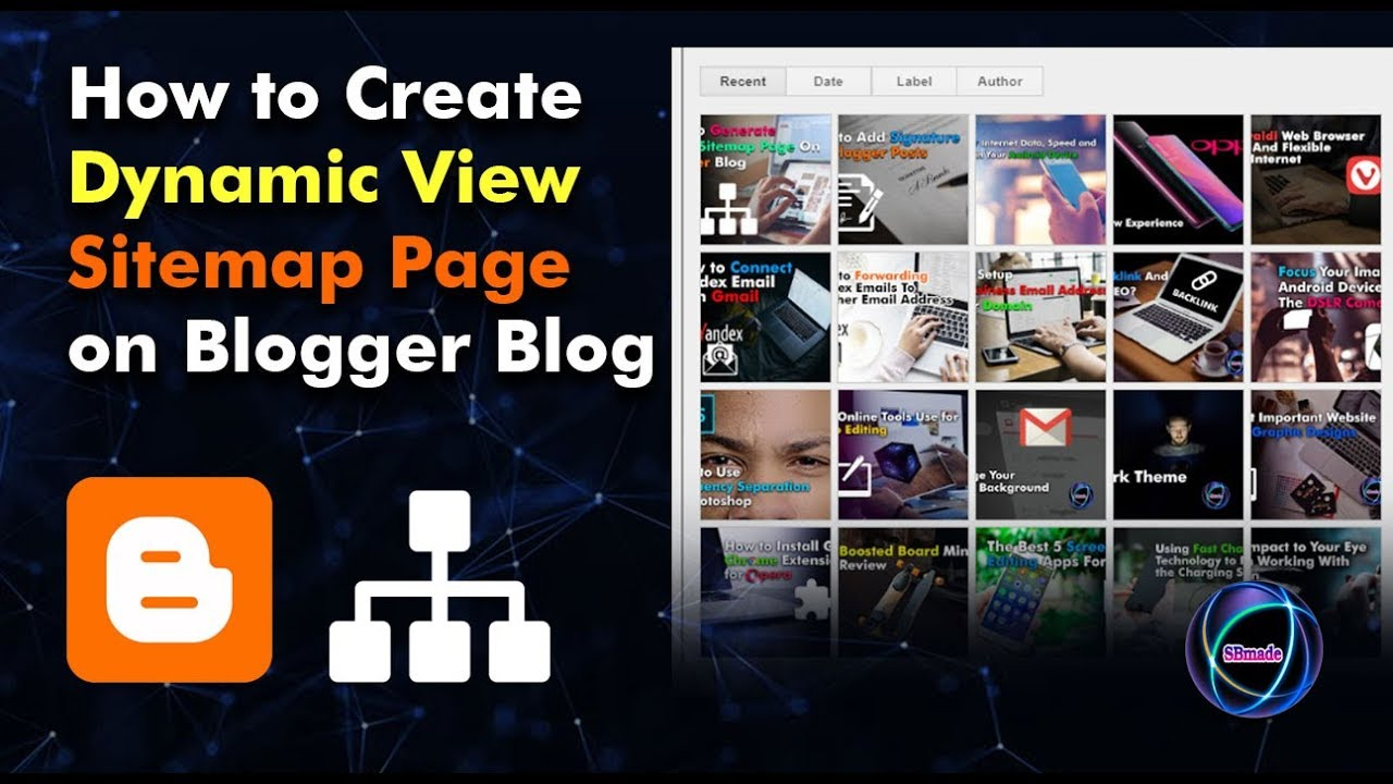 How to Create Dynamic View Sitemap Page on Blogger Blog