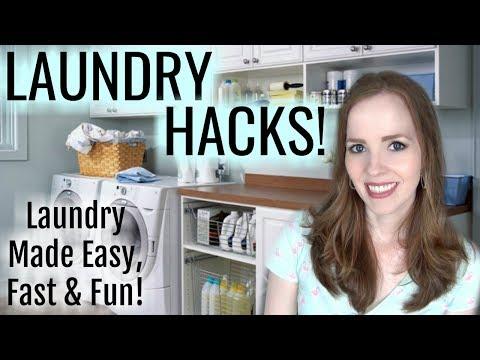 LAUNDRY HACKS! 👚 Laundry Tips & Tricks to Make it Easy, Fast & Fun!