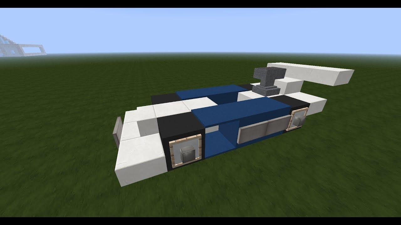 Minecraft tuto construction d 39 une formule 1 youtube for Minecraft tuto construction